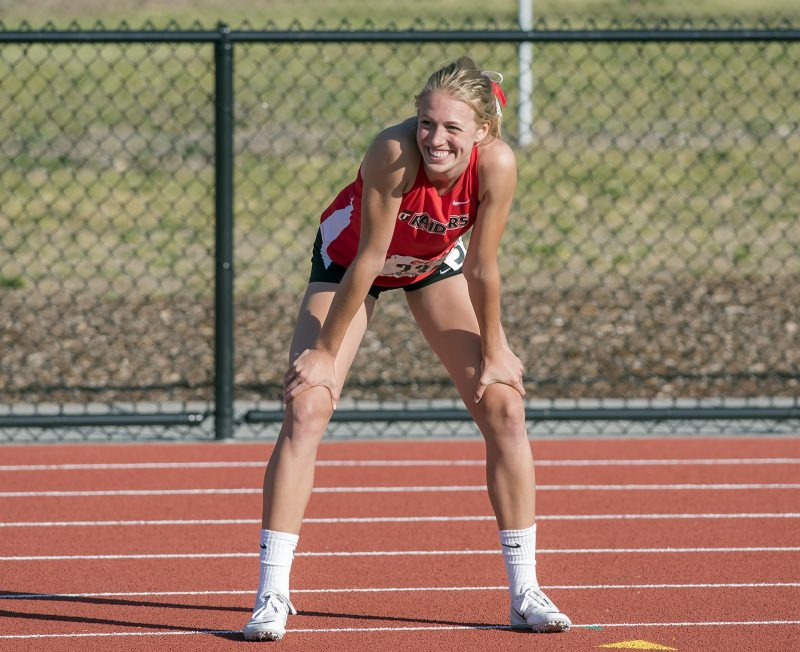 CCC track and field 4x100 relay lauren mcgowne