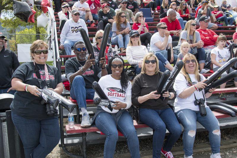 sou softball crowd