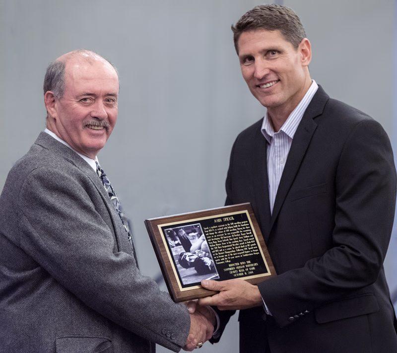 SOU Hall of Fame member John Speasl and AD Matt Sayre