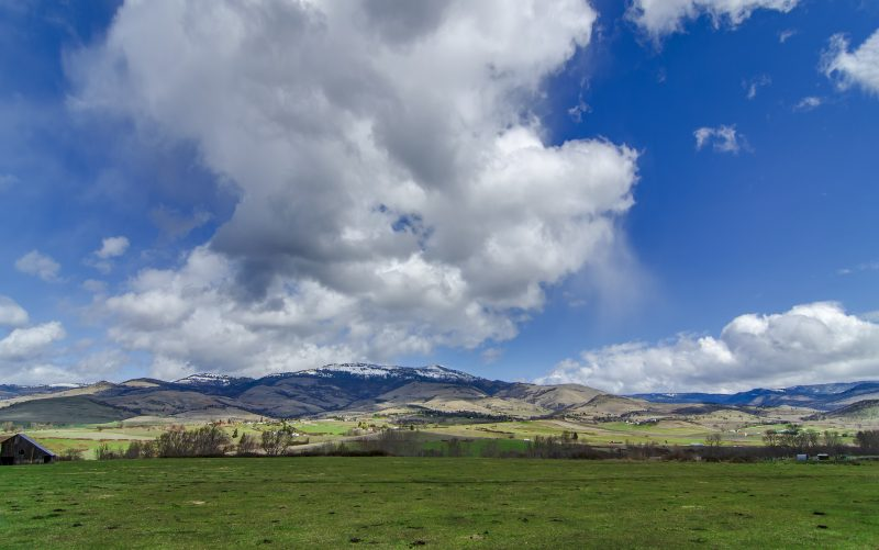 grizzly peak spring snow clouds
