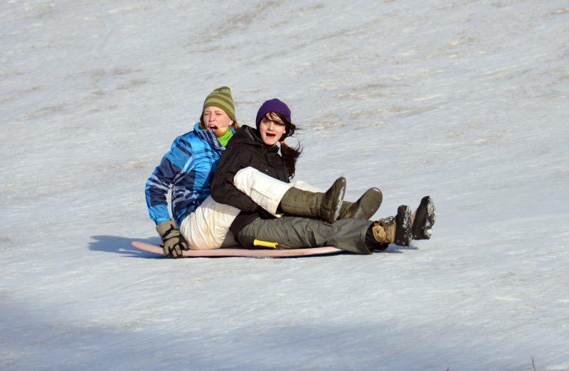 sledding on mt ashland