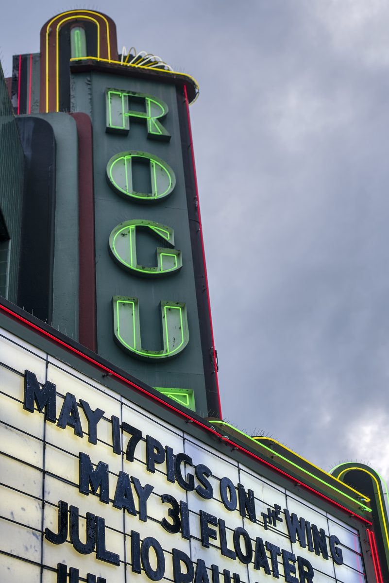rogue theatre pigs on the wing floater marquee
