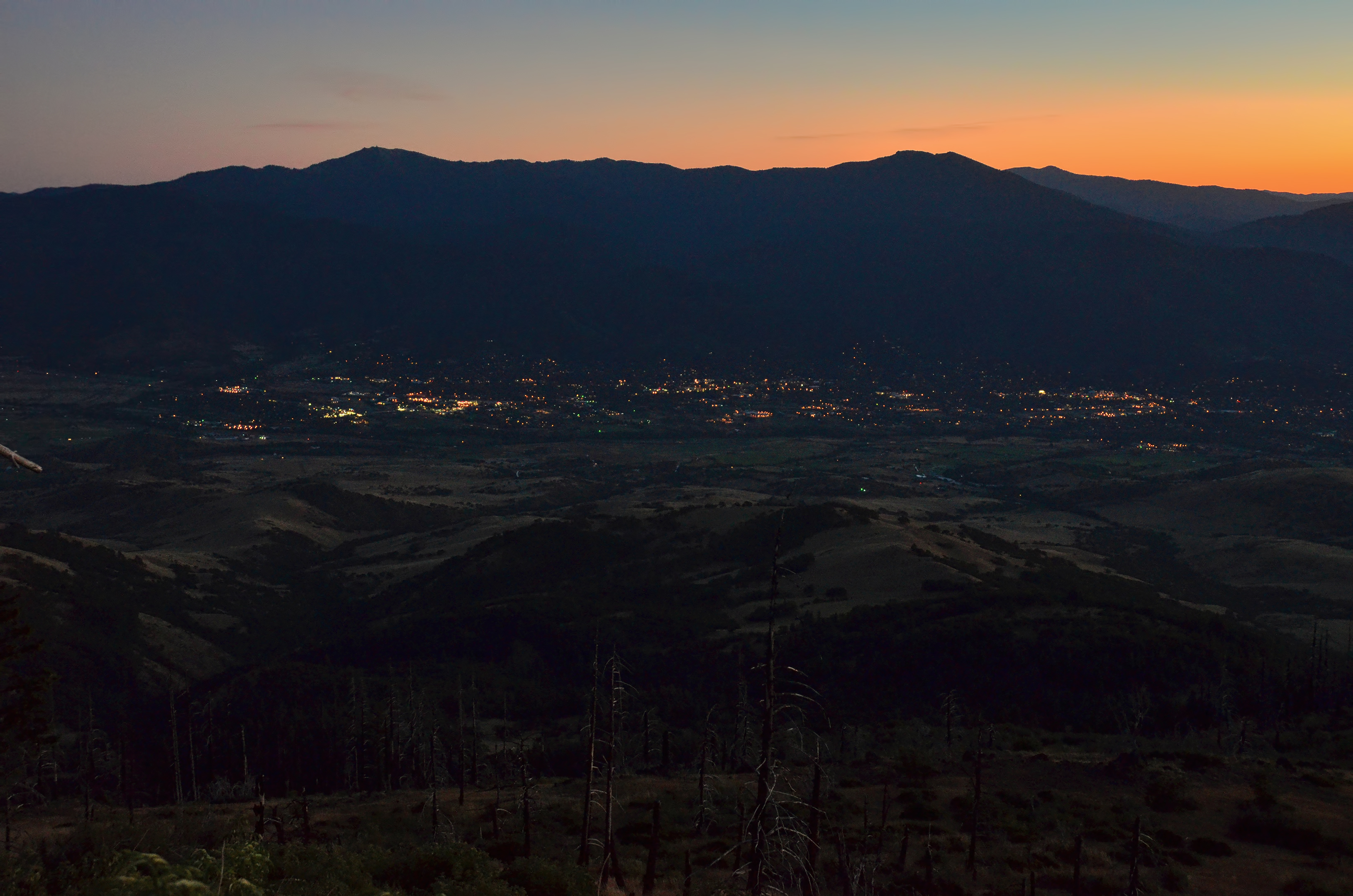 grizzly peak sunset