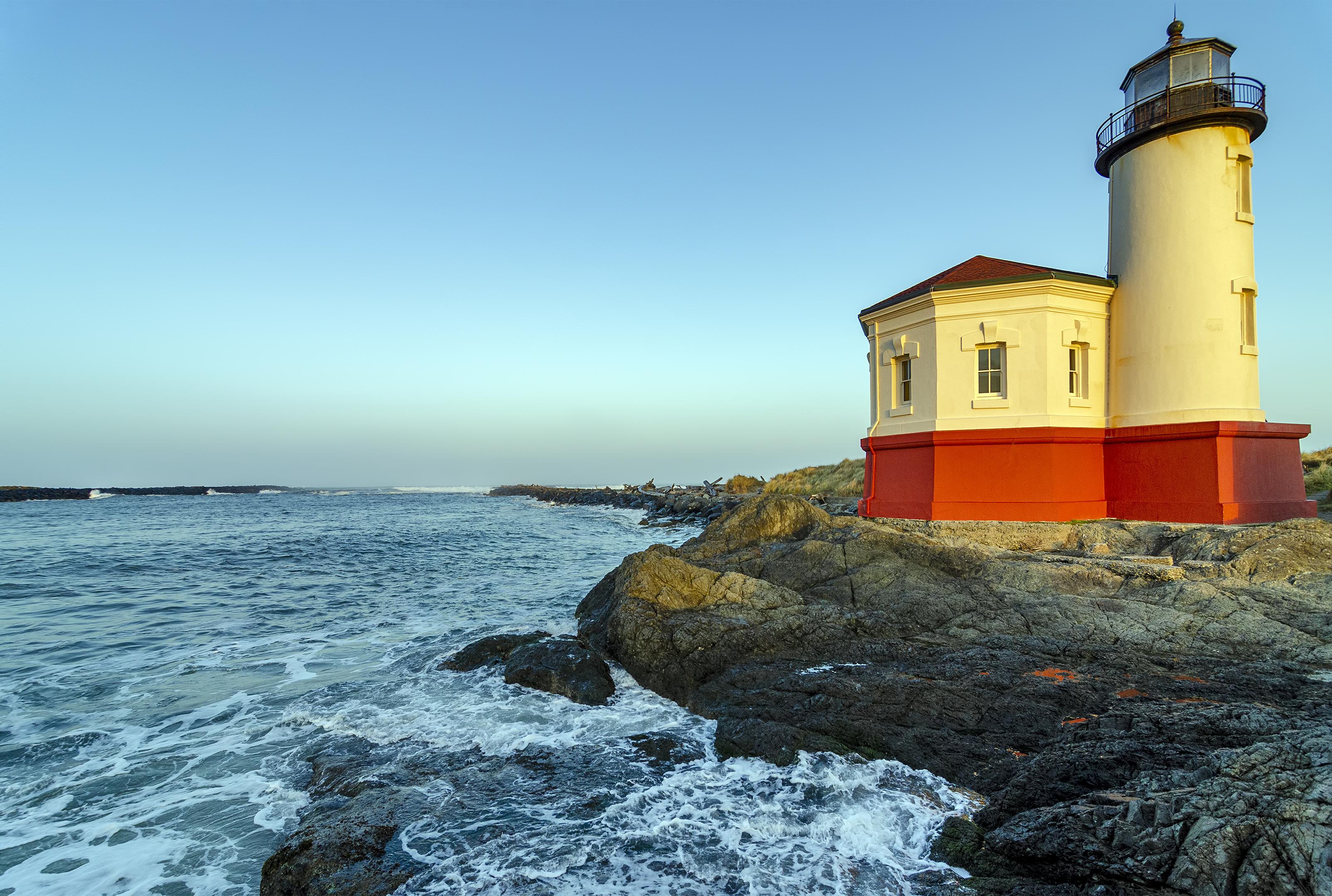Coquille River Lighthouse bandon oregon coast pacific ocean