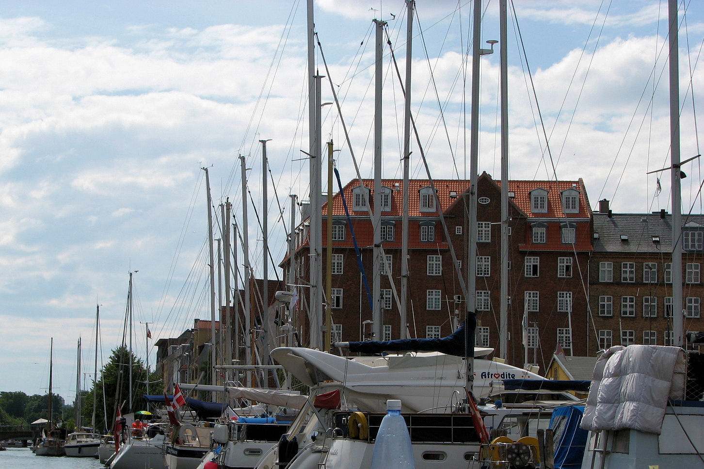 Boats, Buildings, Clouds in Copenhagen