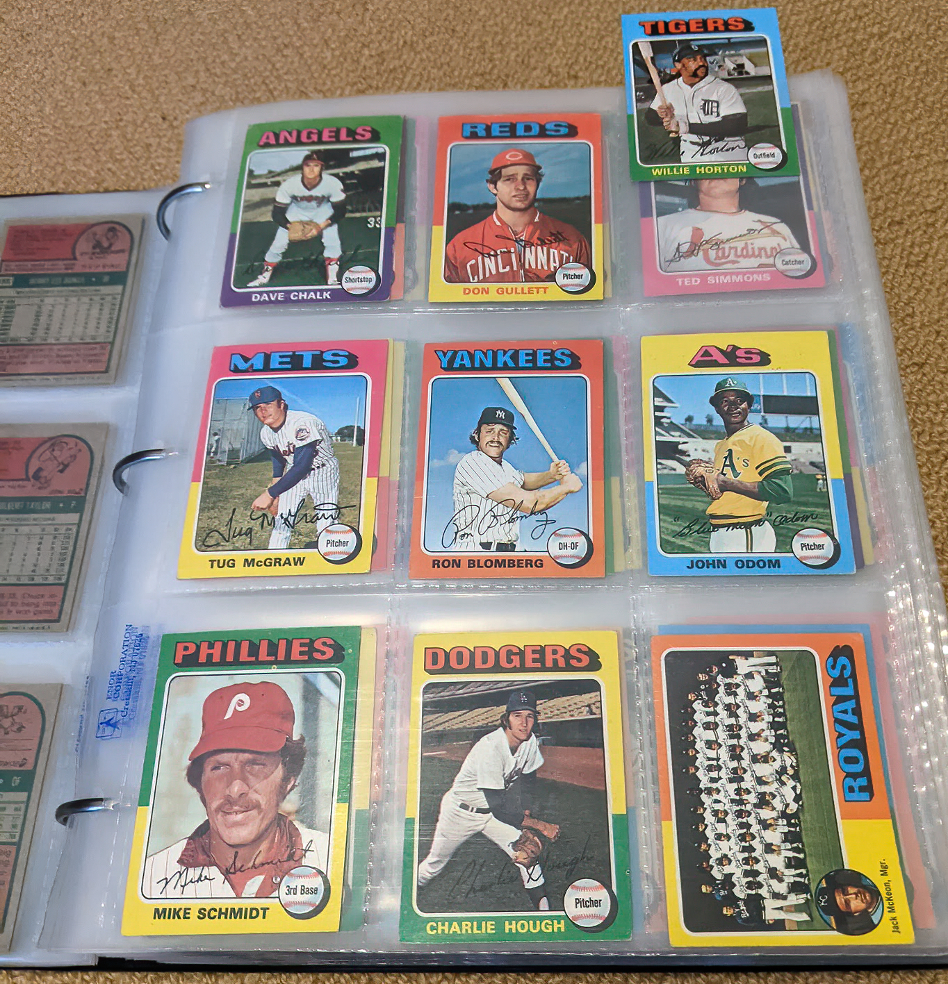 1975 75 topps minis baseball willie horton mike schmidt blue moon odom