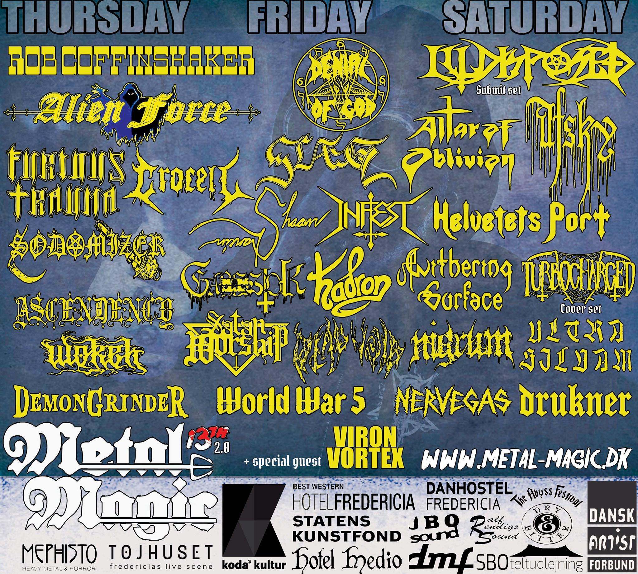 2021 running order schedule metal magic festival denmark
