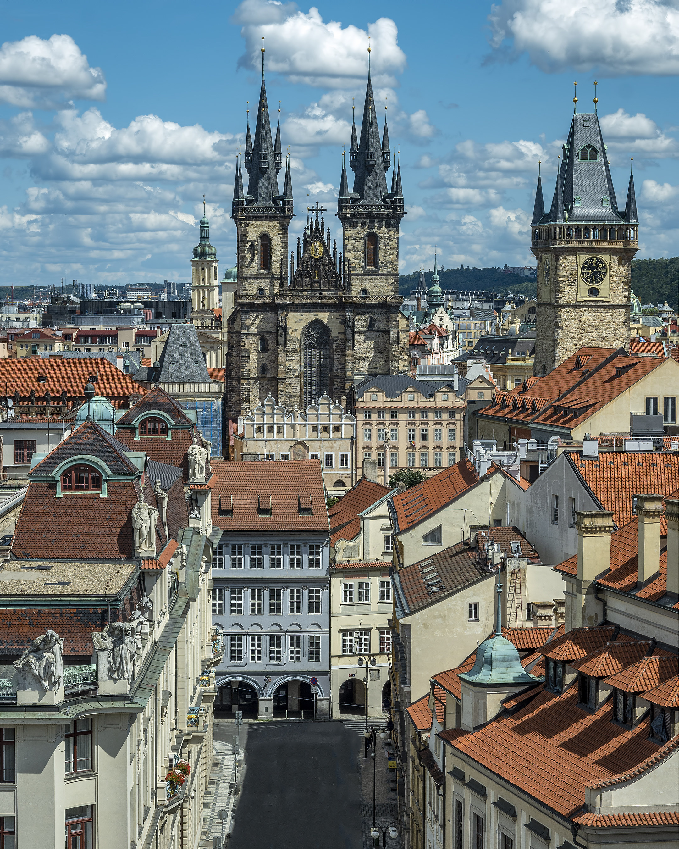 prague old town from tower Klementinum