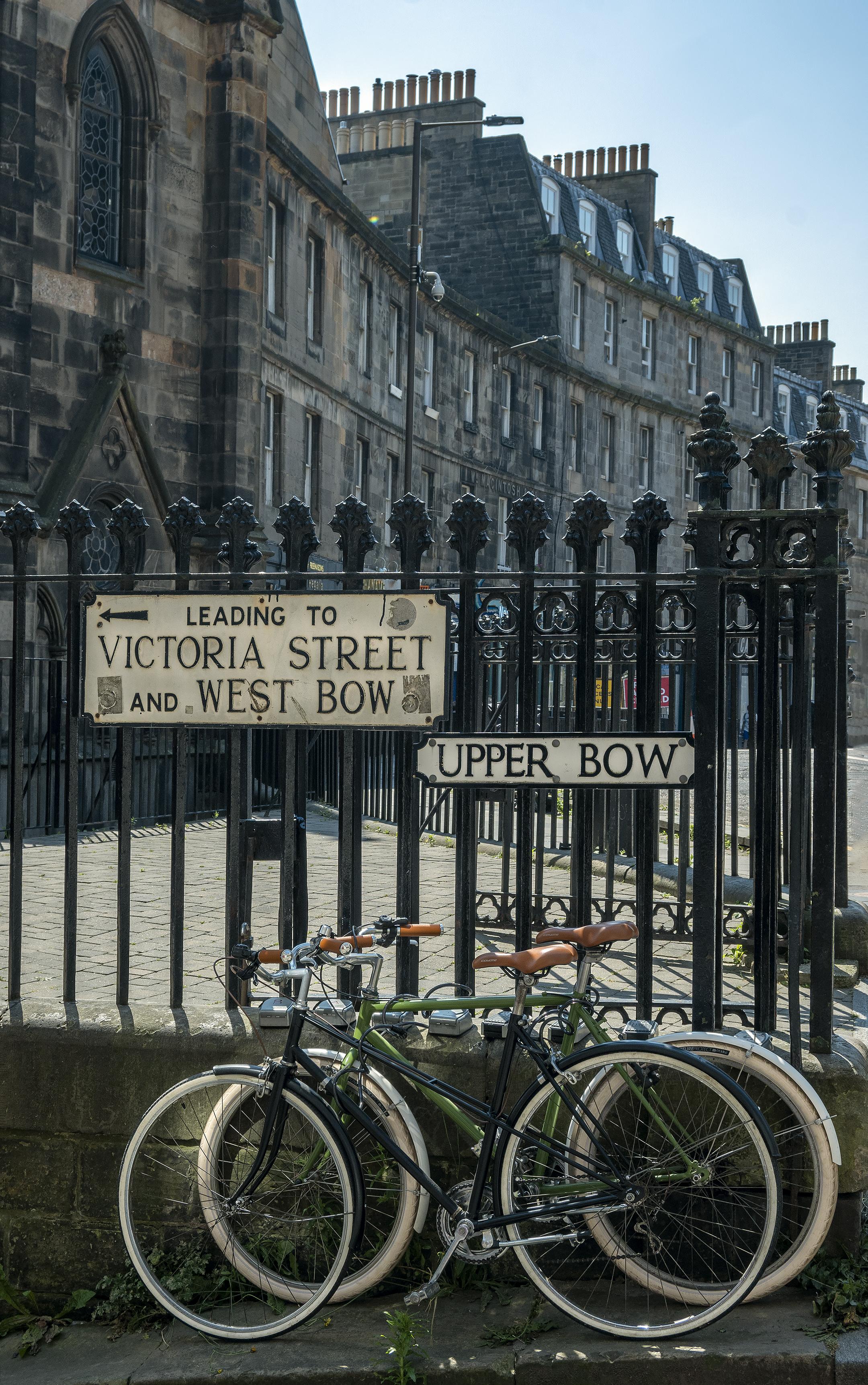 edinburgh scotland bikes upper bow